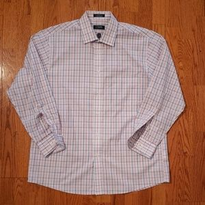 Chaps LARGE tall Check Shirt Blue, Red White
